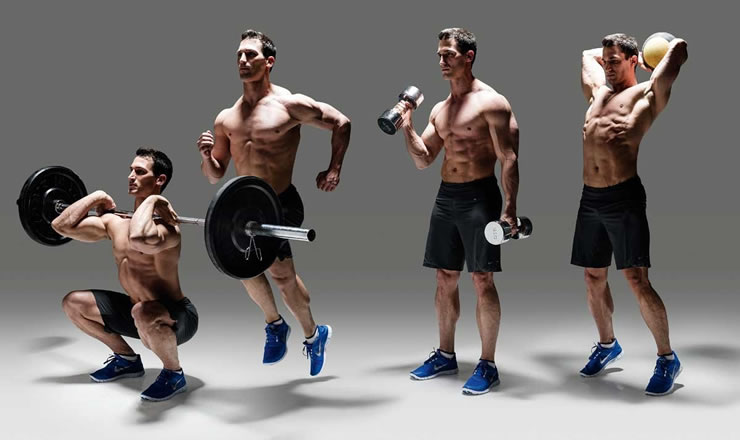 Workout weights sprints