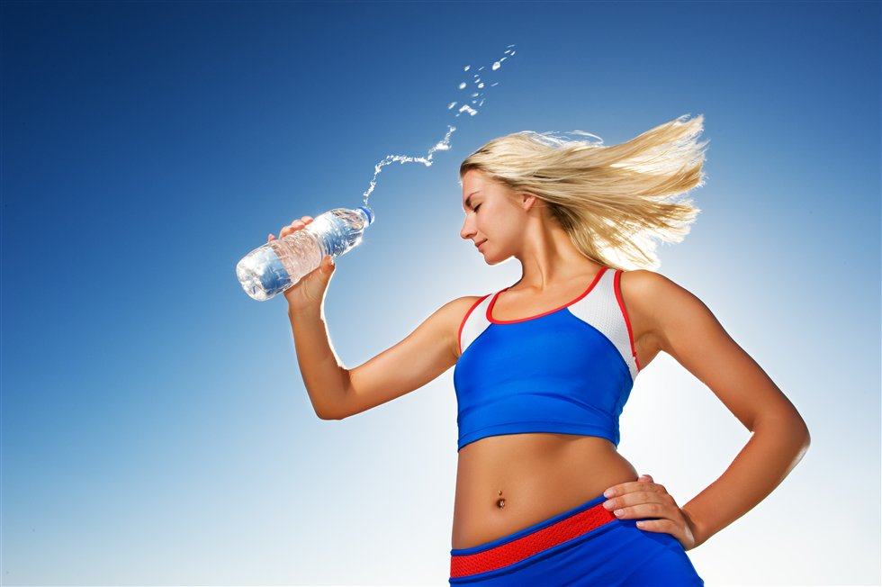 fitness woman body water